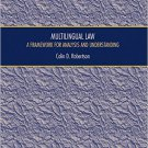 Ebook 978-1409421887 Multilingual Law: A Framework for Analysis and Understanding (Law, Language