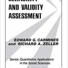 Ebook 978-0803913714 Reliability and Validity Assessment (Quantitative Applications in the Social