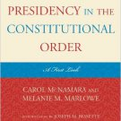 Ebook 978-1442205307 The Obama Presidency in the Constitutional Order: A First Look