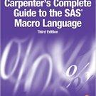 Ebook 978-1629592688 Carpenter's Complete Guide to the SAS Macro Language, Third Edition