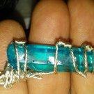 Aqua aura quartz pendant