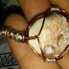 Painted jasp-agate pendant
