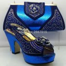 Blue Shoes and Bag To Match Italian Matching Shoe and Bag Set African Wedding Shoes and Bag To Match