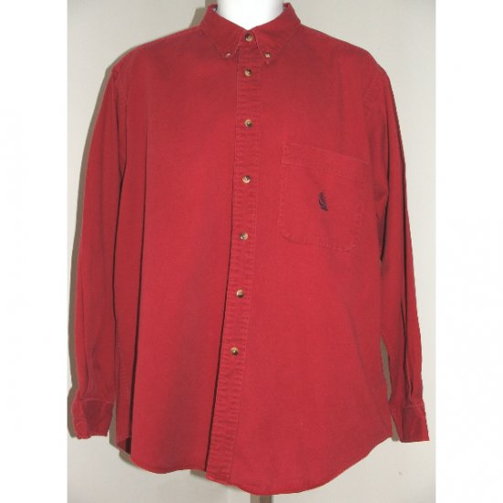 NAUTICA Red Long Sleeve Casual Shirt L
