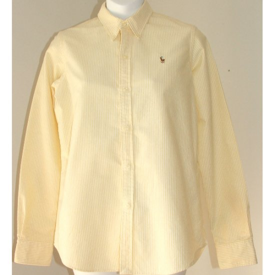 RALPH LAUREN Slim Fit Yellow White Shirt 8