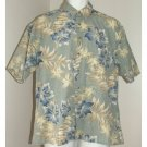 VIA VENETO Tropical Print Short Sleeve Shirt L