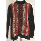 ERIKA Black Red Brown Sweater S
