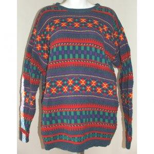 CLAIBORNE Liz Wear Multi-Colored Sweater L
