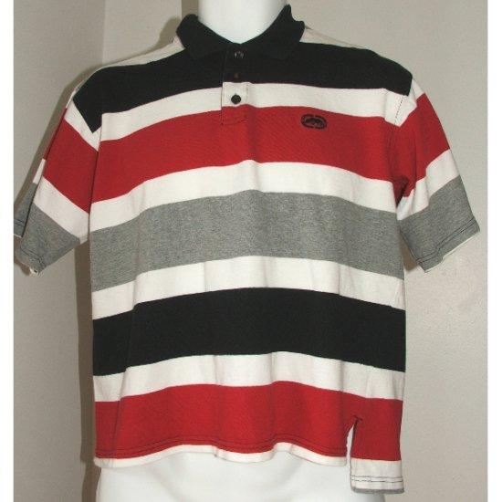 ECKO Unltd. Red Black Grey Polo Shirt L