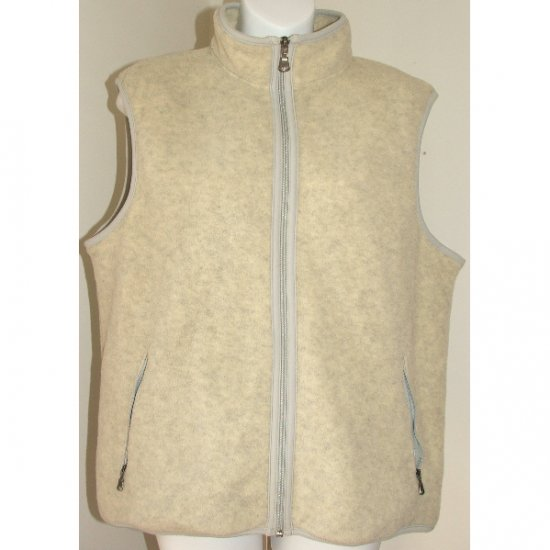 EDDIE BAUER Neutral Fleece Vest L