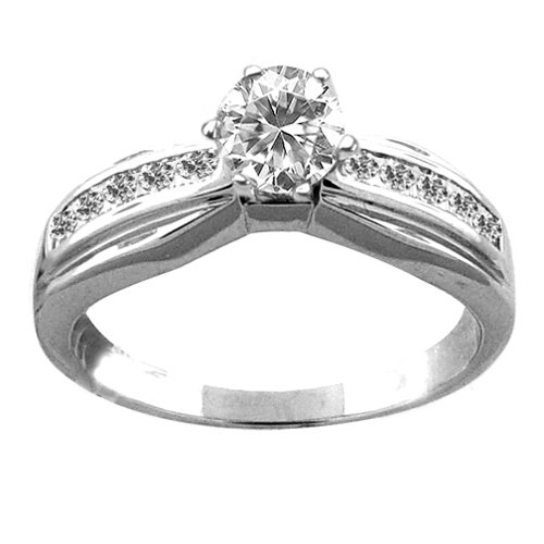 0.85 ctw. Diamond Engagement Ring in 18k White Gold