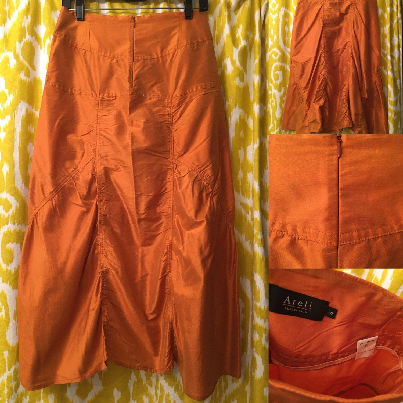 100% Silk Shantung Stunning Skirt by ARIEL - Size 4
