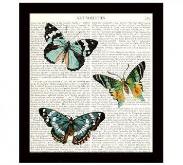 Butterflies Art Print, 8 x 10 Home Decor, Inspirational Art, Free US Shipping