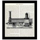 Train Engine Dictionary Art Print 8 x 10 Vintage 19th Century Locomotive Illustration