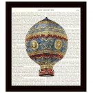 Dictionary Art Print 8 x 10 Old Fashioned 18th Century Hot Air Balloon Steampunk