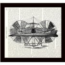 Dictionary Art Print 8 x 10 Steampunk 19th Century Flying Machine Retro Airplane