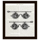 Dictionary Art Print 8x10 Steampunk Spectacles Eyes Victorian Collage Home Decor