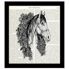 Horse Dictionary Art Print 8 x 10 Winner's Circle Vintage Equestrian Home Decor