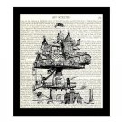 Dictionary Art Print 8 x 10 Victorian Townhouse Home Decor Housewarming