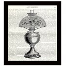Dictionary Art Print 8 x 10 Vintage Victorian Lamp Home Decor 19th Century