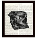 Dictionary Art Print 8 x 10 Manual Typewriter Victorian Illustration Home Decor