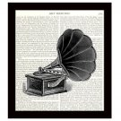 Dictionary Art Print Victorian Music Player 8 x 10 Vintage Victrola Home Decor