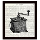 Dictionary Art Print Victorian Coffee Grinder 8 x 10 Kitchen Vintage Home Decor