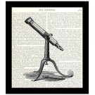 Dictionary Art Print 8 x 10 Vintage Telescope Retro Astronomy Book Page Decor
