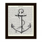 Anchor 8 x 10 Dictionary Art Print Retro Nautical Home Decor Vintage Book Page