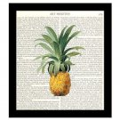 Pineapple Dictionary Art Print 8 x 10 Kitchen Art Home Decor Housewarming Gift