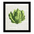 Dictionary Art Print 8 x 10 Lettuce Salad Kitchen Decor Housewarming Gift