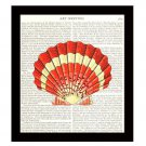 Dictionary Art Print 8 x 10 Scallop Seashell Nautical Beach Home Decor Vintage