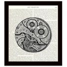 Dictionary Art Print 8x10 Steampunk Watch Gears Vintage Mechanical Illustration