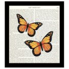 Dictionary Art Print 8 x 10 Colorful Monarch Butterflies Collage Book Page