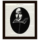 Portrait of William Shakespeare Dictionary Art Print 8 x 10 Home Decor