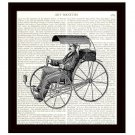 Dictionary Art Print 8 x 10 Victorian Bicycle Carriage Steampunk Home Decor