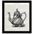Dictionary Art Print Victorian Teapot 8 x 10 Kitchen Art Housewarming Home Decor