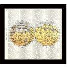 Dictionary Art Print 8 x 10 Map of Mars Schiaparelli Victorian Astronomy Science