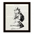 Dictionary Art Print 8 x 10, Alice in Wonderland, Alice Puts on the Crown