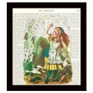 Dictionary Art Print 8 x 10 Alice in Wonderland Playing Cards Victorian Decor