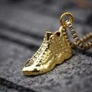 Men's Mini 18k Gold Plated Retro 13 Shoe Necklace