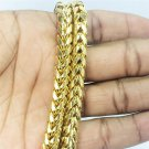 Mens Cuban Link Gold Plated Franco Chain Stainless Steel 30""