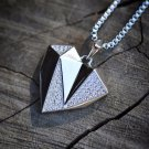 Women's Lab Simulated Diamond Silver Heart Necklace