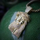 Mini Gold Jesus Piece And Pendant Combo Set Necklace Chain