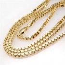 "24"" Stainless Steel 18k Gold Box Chain High Quality"