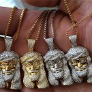 MICRO MINI JESUS PIECE PENDANT AND CHAIN FULLY ICED OUT