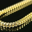 3MM 14K Yellow Gold Finished Franco Style Chain Necklace Stainless Steel 30""