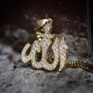 Gold Hip Hop Allah Pendant With Box Chain