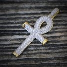 Mini Gold Egyptian Key Of Life Ankh Cross Pendant Charm