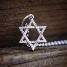 925 Sterling Silver Jewish Star Of David Pendant Charm Necklace